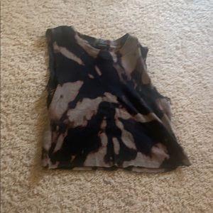 Bleach Dyed Tank Top